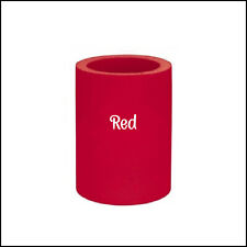 2 Red Original Style Old School Blank Thick Foam Can Coolers Coolies Party