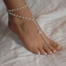 Simulated Pearl Foot Anklets Sandals Jewelry Bridal Accessories Charming