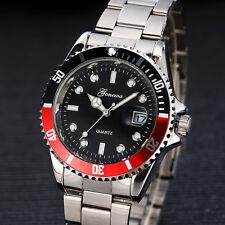 Herren Sport Militär Armbanduhr Datum Edelstahl Quartz Analog Watch Wasserdicht