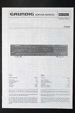 Grundig T 5200 ORIGINALE MANUALE DI SERVIZIO/Manuale Servizio/SCHEMA ELETTRICO