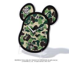 A Bathing Ape ABC BE@R Wall Clock Green Camo Rare Bape X Be@rbrick