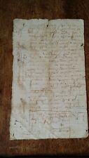 1600'S ANTIQUE EARLY 17TH CENTURY FRENCH MANUSCRIPT - SIGNATURES / WATERMARK