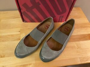 Fitflop Due Mary Jane, Size US 8/Euro 39, Taupe Nubuck Suede