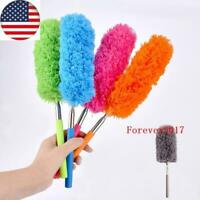 US Extendable Duster Telescopic Microfiber Cleaning Brush Feather Extend Brushes
