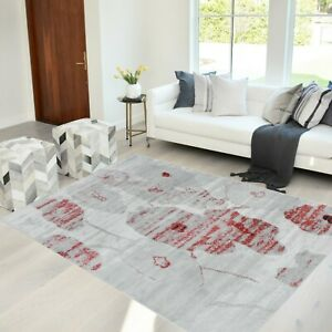 Rugs 8x10 Area Rug Abstract Modern Contemporary Floral 5x7 cherry gray Carpet
