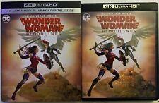 DC WONDER WOMAN BLOODLINES 4K ULTRA HD BLU RAY 2 DISC SET + SLIPCOVER SLEEVE
