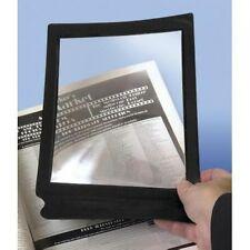Large Flat Magnifying Sheet Fresnel Lens Magnifier Reading Glass. Black Frame