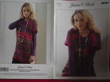 James C Brett - Ladies Sweater Aran  Monsoon Yarn Knitting Pattern - JB067