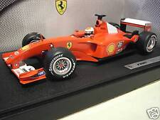 F1 FERRARI F2001 # 1 SCHUMACHER o 1/18 HOT WHEELS MATTEL 50202 voiture miniature