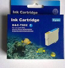 D&C T802 Cyan für EPSON Stylus Photo R265/r285/R360/RX585/RX685/RX560