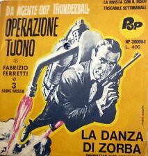 """OST 007 THUNDERBALL  ( CONNERY ) 7""""  OPERAZIONE TUONO  FABRIZIO FERRETTI"""