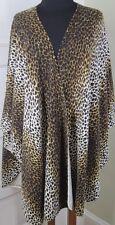 NEIMAN MARCUS 100% CASHMERE Animal Print Shawl Wrap One Generous Size $395! NWT