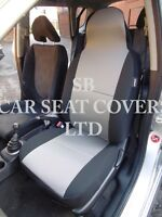 TO FIT A RENAULT ZOE, CAR SEAT COVERS, TITANIUM GREY FABRIC 2 FRONTS