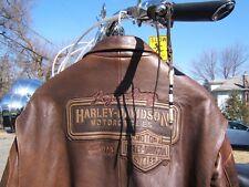 HARLEY DAVIDSON LEGENDARY LEATHER BOMBER JACKET XXX-LARGE 3XL