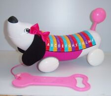 LeapFrog AlphaPup (Alpha Pup) Pink Learning Musical Talking Pull Toy - 2014