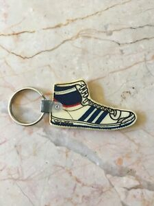 Vtg Rare 70s 80s Adidas Hi-Top Sneakers Keychain Fob Top Ten Basketball Shoes