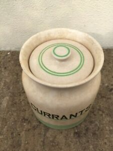 Vintage - Kleen Kitchen Ware - 2 Pint - Storage Jar - Currants - Good condition