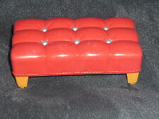 Fisher Price Loving Family Dollhouse Red Bench Ottoman Stool