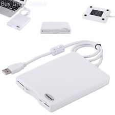 External USB Floppy 3.5in Disk Drive Reader Laptop Desktop Computer PC White