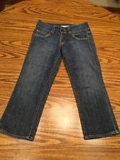 Women's Red Engine Lotus Capri Cropped Jeans Good Condition Size 25 X 20