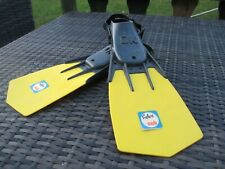 Safari Sub OK Childrens Diving Flippers Size 12-1 Yellow Scuba Diving Fins