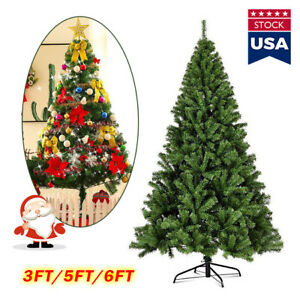 US! 5/6FT Green Artificial Christmas Tree w/ Metal Stand Xmas Home Decoration