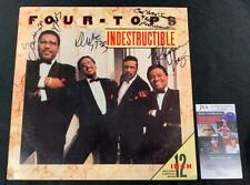 FOUR TOPS HAND SIGNED AUTOGRAPHED INDESTRUCTIBLE VINYL ALBUM/RECORD JSA/COA
