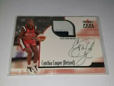 2001-02 Fleer WNBA Feel The Game CYNTHIA COOPER 2 Colour Patch Card Comets