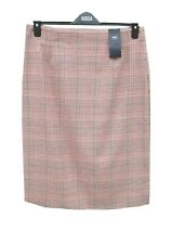 Marks & Spencer Red Check Pencil Skirt Size 12 in Two Lengths