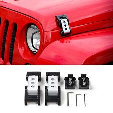 Silver Stainless Steel Latch Locking Hood Catch For Jeep Wrangler JK JKU Pair  B