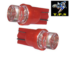 2X RED T10 1 SMD LED W5W 501 CAR GLOVEBOX MARKER DOME GAUGE LIGHT WEDGE BULBS