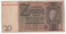 BILLET ALLEMAGNE 20 MARK 1924