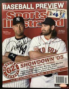 Derek Jeter Signed Sports Illustrated Magazine Johnny Damon Autograph HOF 2020