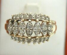 hand diamond ring.cocktail ring.size 7 vintage 10k yellow gold ladies right
