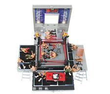 WWE Micro Aggression Ring Carry Case Mini Figures Tables Chairs Ladders