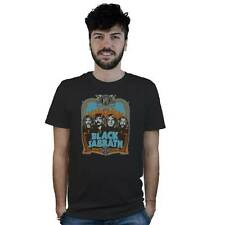 T-Shirt Black Sabbath, maglietta nera, locandina Musica Concerto Hard Rock