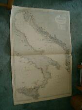 Vintage Admiralty Chart 1440 ADRIATIC 1920 edn
