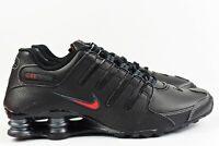 Nike Shox NZ Mens Size 9 Shoes 378341 017 Black Leather