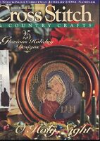 Cross Stitch & Country Crafts Magazine 25 Glorious Holiday Designs Nov Dec 1994