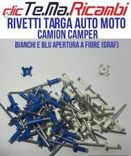 20 RIVETTI TARGA PER EUROPEA A FIORE 4,8X12 10 BLU E 10 BIANCHI AUTO MOTOì