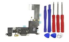 OEM Black Headphone Charger Charging Data USB Port Flex Cable iPhone 5S + Tools