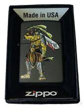 Zippo Custom Lighter Sparta Gladiator Spartan Warrior Bloody Sword Black Pocket
