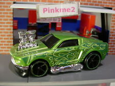 2018 HW FLAMES Design '68 MUSTANG☆green; oh5; tooned☆New LOOSE Hot Wheels
