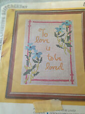 Vintage Vogart Creative Stitchery - Crewel Embroidery - To Love Is To Be Loved