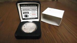 1994 Marshall Faulk .999 Fine Silver1 Troy Ounce-Silver Mint Coin- #0949 of 7500