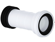 """Viva Toilet pan connector Extended straightg rigid for use with 4""""(110mm) pipe"""
