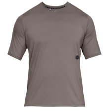 UNDER ARMOUR Rush Short Sleeve T Shirt Mens Brown Size UK M *REF166