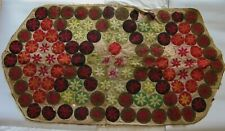 "Antique - Early 20th century Canadian penny rug - 49"" x 26½"""