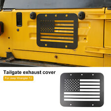 Aluminum Tailgate Exhaust Vent Plate Decor Cover for Jeep Wrangler TJ 1997-2006