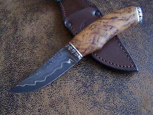 SLON Custom Outdoor / Jagdmesser Messer High Carbon San Mai Damaststahl 63-HRC